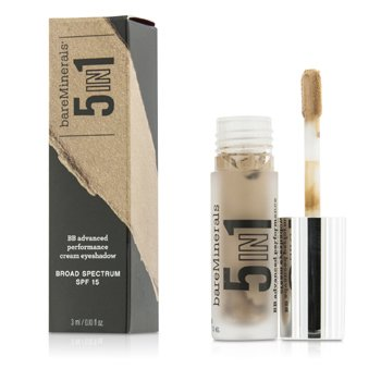 BareMinerals BareMinerals 5 In 1 BB Advanced Performance Cream Eyeshadow Primer SPF 15 - Barely Nude  3ml/0.1oz