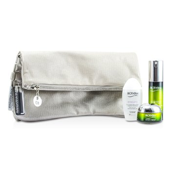 Biotherm Kit Skin Best: Serum In Cream 30ml + Creme SPF 15 15ml + Biosource Micellar Water 30ml + Necessaire  3pcs+1bag