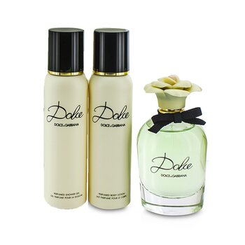 Dolce Coffret: Eau De Parfum Spray 75ml/2.5oz + Body Lotion 100ml/3.3oz + Shower Gel 100ml/3.3oz  3pcs