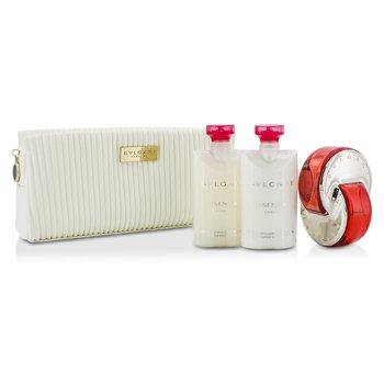 Omnia Coral Coffret: Eau De Toilette Spray 65ml/2.2oz + Body Lotion 75ml/2.5oz + Body Scrub 75ml/2.5oz + Pouch  3pcs+pouch