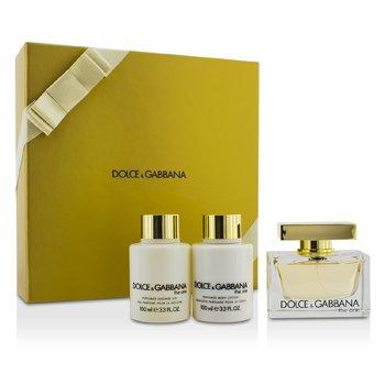 Dolce & Gabbana Bộ The One: Eau De Parfum Spray 75ml/2.5oz + Dưỡng Thể 100ml/3.3oz + Gel Tắm 100ml/3.3oz  3pcs