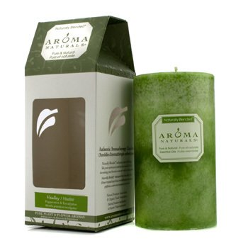 Aroma Naturals Authentic Aromatherapy Candles - Vitality (Peppermint & Eucalyptus)  (2.75x5) inch