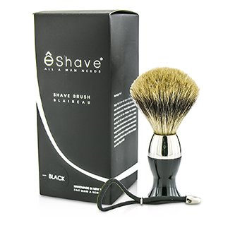 EShave Short Brushes Nickel Pastic Handle - # Black  1pc