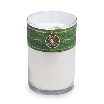 Massage & Intention Candle - Sweetgrass & Sage Smudge  12oz