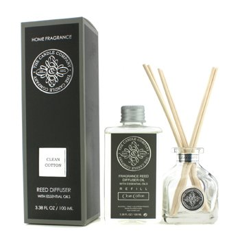 The Candle Company Reed Diffuser with Essential Oils - Clean Cotton  100ml/3.38oz