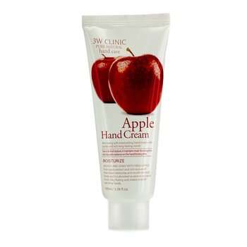 3W Clinic Crema de Manos - Apple  100ml/3.38oz