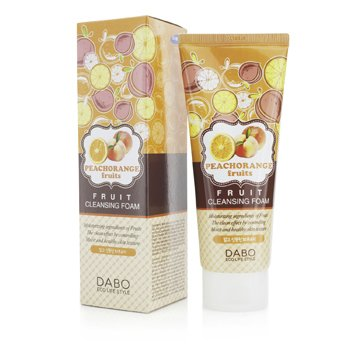 Dabo Espuma Limpiadora de Fruta - Peach Orange  150ml/5oz
