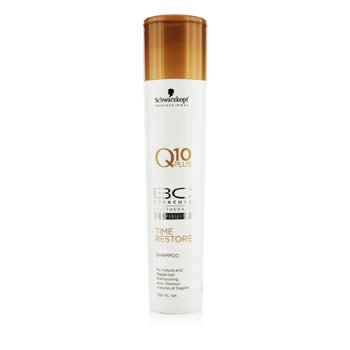 Schwarzkopf BC Time Restore Q10 Plus Shampoo - For Mature and Fragile Hair (New Packaging)  250ml/8.4oz