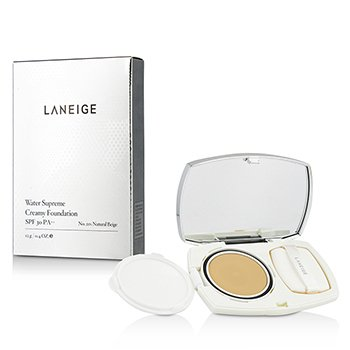 Laneige Water Supreme Creamy Foundation SPF 30 - Alas Bedak - # 21N Natural Beige  12g/0.4oz