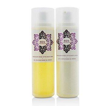 Morococann Rose Duo: Body Wash 200ml/6.8oz + Body Lotion 200ml/6.8oz  2pcs