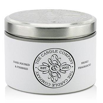 The Candle Company  Vysoko aromatická sviečka v plechovej dóze  – Biely jazmín  (1.5x3) inch