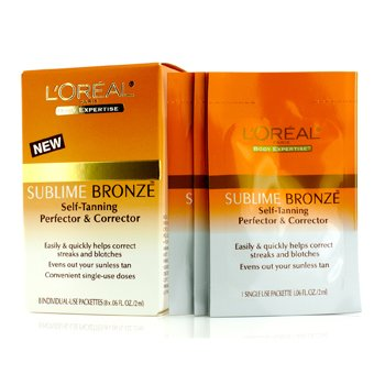 L'Oreal Sublime Bronze Self-Tanning Perfector & Corrector  8x2ml/0.06oz