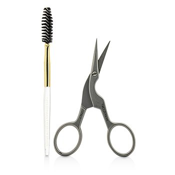 Stainless Steel Brow Shaping Scissors & Brush (Studio Collection)  2pcs