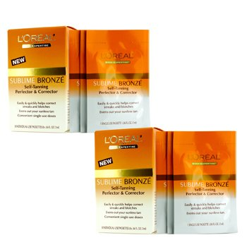 L'Oreal Sublime Bronze Self-Tanning Perfector & Corrector Duo Pack  2x8x2ml/0.06oz
