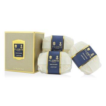 Luksusowe mydełko do ciała White Rose Luxury Soap  3x100g/3.5oz