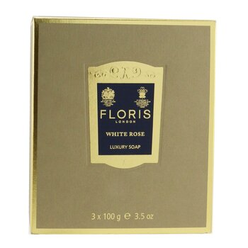 White Rose Luxury Soap  3x100g/3.5oz