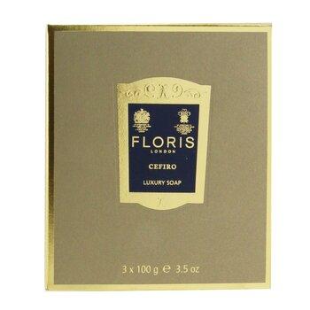 Cefiro Luxury Soap 3x100g/3.5oz