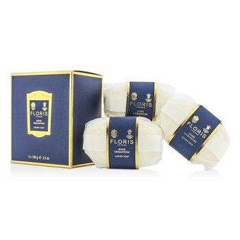 Rose Geranium Luxury Soap  3x100g/3.5oz