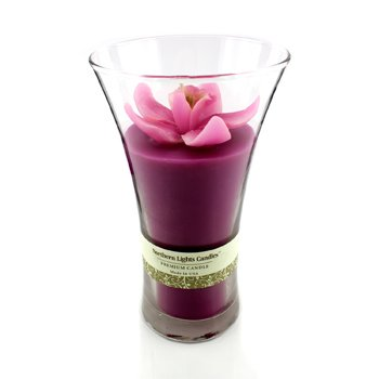 Northern Lights Candles Floral Vase Premium Candle - Pink Orchid  5 inch