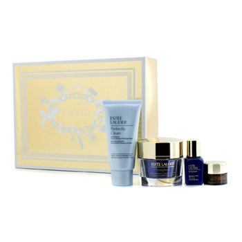 Estee Lauder Skintone/Spot Correction Essentials Set: Enlighten Creme 50ml + Serum 15ml + ANR Eye Complex II 5ml + Perfectly Clean 50ml  4pcs