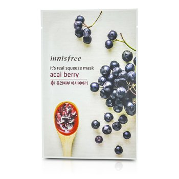 Innisfree It's Real Squeeze Mask - Acai Berry  10pcs