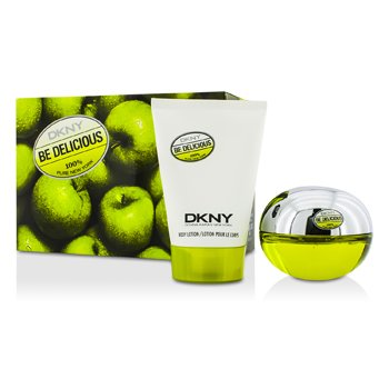 DKNY Be Delicious Coffret: Eau De Parfum Spray. 50ml/1.7oz + Losyen Badan 100ml/3.4oz 5AF2  2pcs