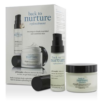 Philosophy Set Back To Nurture: 1x Aceite Restauración Profunda 15ml/0.5oz, 1x Crema Humectante Restauradora 30ml/1oz  2pcs