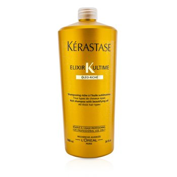 Kerastase Elixir Ultime Oleo-Riche Rich Shampoo (For All Thick Hair Types)  1000ml/34oz