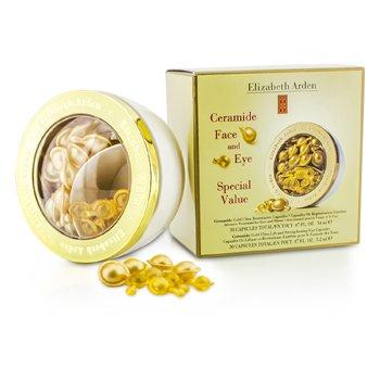 Elizabeth Arden Ceramide Gold Ultra Restorative Capsules & Strengthening Eye Capsules  2x30 Capsules
