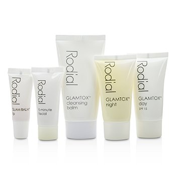 Glamtox Kit: Cleansing Balm 30ml + Glamtox Day SPF15 15ml + Glamtox Night 15ml + 5 Minute Facial 10ml + Glam Balm Lip 2.5ml  5pcs