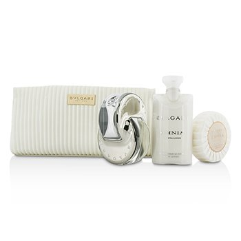 Omnia Crystalline Coffret: Eau De Toilette Spray 65ml/2.2oz + Soap 75g/2.6oz + Body Lotion 75ml/2.5oz + Pouch  3pcs+1pouch