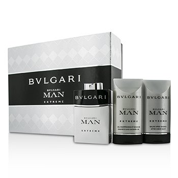 Bvlgari Man Extreme Coffret: Eau De Toilette Spray 60ml/2oz + After Shave Balm 75ml/2.5oz + Shower Gel 75ml/2.5oz  3pcs