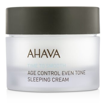 Ahava Time To Smooth Crema para Dormir Tono Parejo Control Edad  50ml/1.7oz