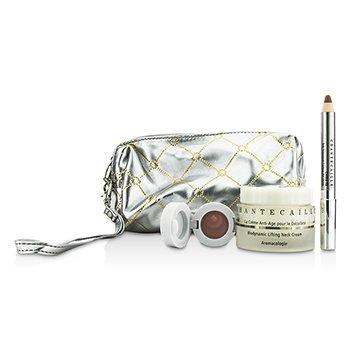 Skin Care Set: Neck Cream 50ml + Lip Potion 4.5g + Contour Fill 2.5g + Bag  3pcs+1bag