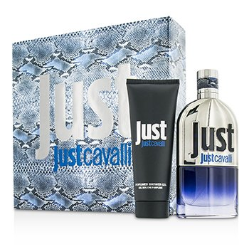 Roberto Cavalli Just Cavalli Him (Yeni Ambalaj) Kofre: EDT Sprey 90ml/3oz + Duş Jeli 75ml/2.5oz  2pcs