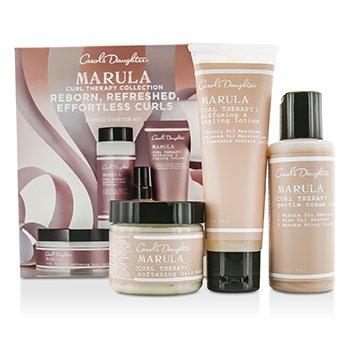 Carol's Daughter  Marula Curl Therapy Collection Set Principiante 3 Productos : Limpiador  60ml + Loción Estilizadora 60ml + Mascarilla para Cabello 60ml  3pcs