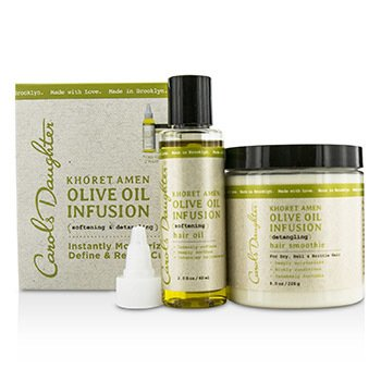 Carol's Daughter Kit Olive Oil Infusion Khoret Amen: Óleo para Cabelo 60ml + Smoothie para Cabelo 226g  2pcs
