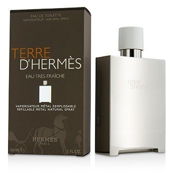 Terre D'Hermes Eau Tres Fraiche Eau De Toilette Refillable Metal Spray  150ml/5oz