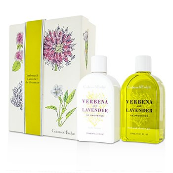 Crabtree & Evelyn Verbena & Lavender Duo: Bath & Shower Gel 250ml + Body Lotion 250ml  2pcs
