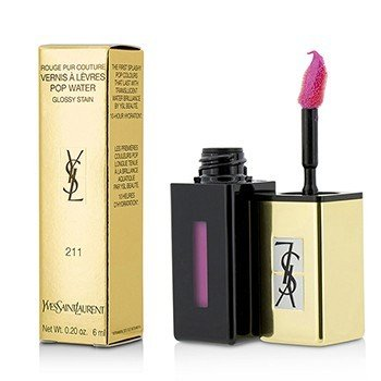 Yves Saint Laurent Rouge Pur Couture Vernis A Levres Color Brillo Agua - #211 Rose Cascade  6ml/0.2oz