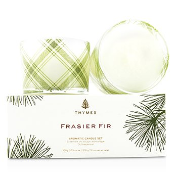 Aromatic Candle Set - Frasier Fir 2x105g/3.75oz