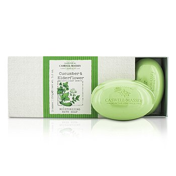 Caswell Massey Cucumber & Elderflower  Set Jabones Humectantes de Baño  3x150g/5.2oz