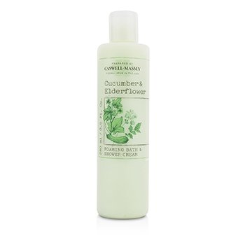 Caswell Massey Cucumber & Elderflower Foaming Bath & Shower Cream - Perawatan Badan  240ml/8oz