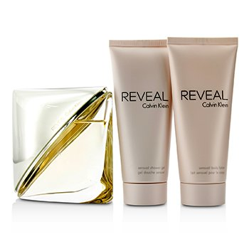 Reveal Coffret: Eau De Parfum Spray 100ml/3.4oz + Body Lotion 100ml/3.4oz + Shower Gel 100ml/3.4oz  3pcs