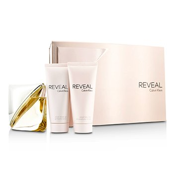 Calvin Klein Reveal Coffret: Eau De Parfum Spray 100ml/3.4oz + Body Lotion 100ml/3.4oz + Shower Gel 100ml/3.4oz  3pcs