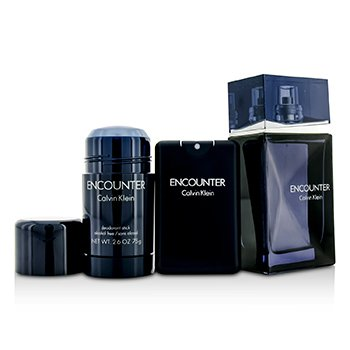 Encounter Coffret: Eau De Toilette Spray 100ml/3.4oz + Eau De Toilette Spray 20ml/0.67oz + Deodorant Stick 75ml/2.6oz  3pcs