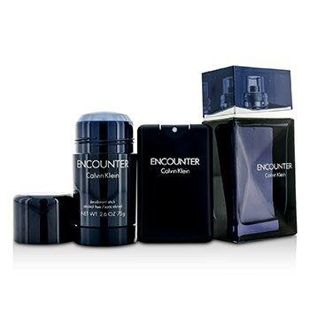 ชุด Encounter Coffret: สเปรย์น้ำหอม EDT 100ml/3.4oz + สเปรย์น้ำหอม EDT 20ml/0.67oz + แท่งระงับกลิ่นกาย Deodorant Stick 75ml/2.6oz  3pcs