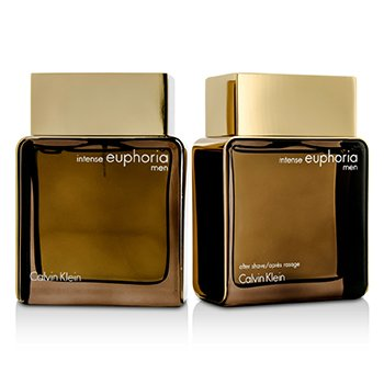 Euphoria Intense Coffret: Eau De Toilette Spray 100ml/3.4oz + After Shave 100ml/3.4oz  2pcs