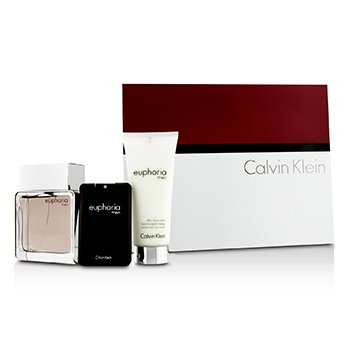 Calvin Klein Euphoria Coffret: Eau De Toilette Spray 100ml/3.4oz + Bálsamo Para Después de Afeitar 100ml/3.4oz + Eau De Toilette 20ml/0.67oz  3pcs
