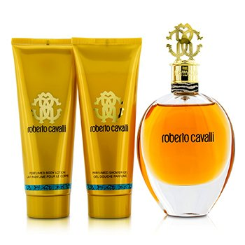 Roberto Cavalli (New) Coffret: Eau De Parfum Spray 75ml/2.5oz + Body Lotion 75ml/2.5oz + Shower Gel 75ml/2.5oz 3pcs